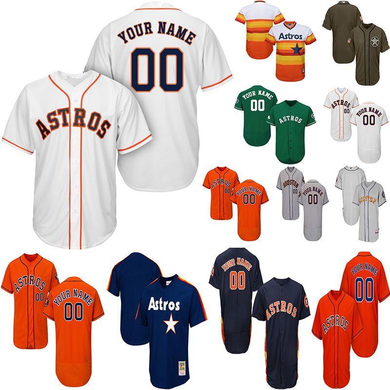 super popular 8592e fbc28 2019 Customized Houston Astros Jersey Mens Women Youth Baseball Jersey Alex  Bregman Jersey Jose Altuve George Springer Nolan Ryan