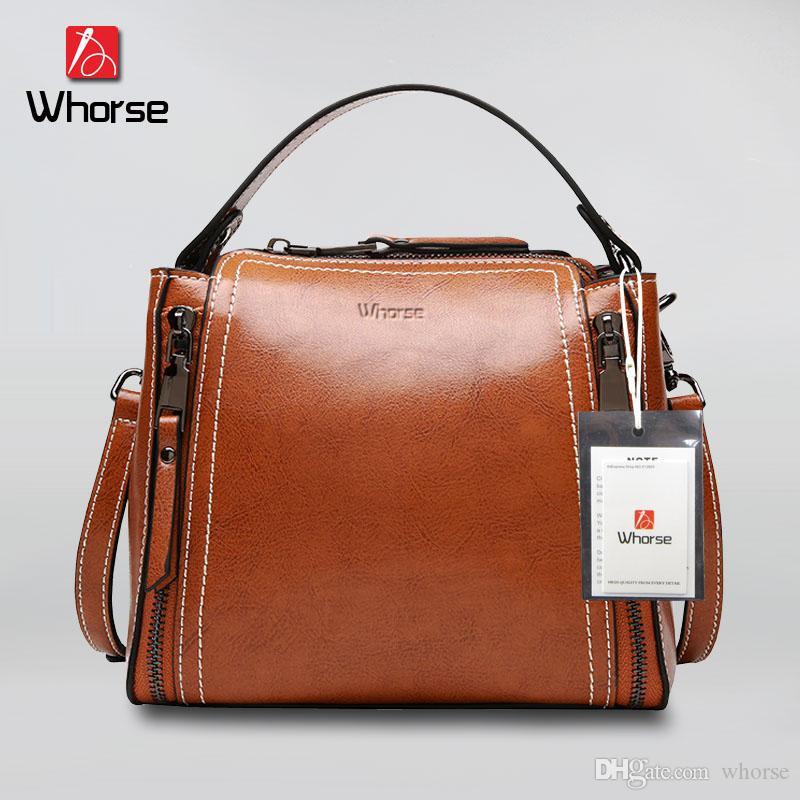 High Quality Small Flap Bag Double Zipper Design Genuine Leather Handbag  Women Hard Cowhide Handbags Shoulder Messenger Bags For Lady W0906 Black  Handbag ... ac54c49d2e8b9