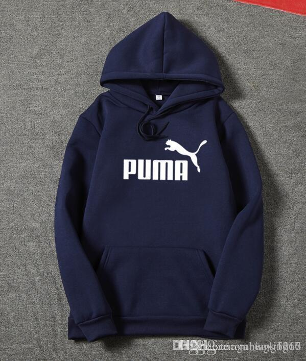 325dae01ca57 2019 PUMA Thicken Winter Hoodie Mens High Quality Designer Fleece  Sweatshirts Embroidery Hip Hop Pullover New Hoodies From Wgling16
