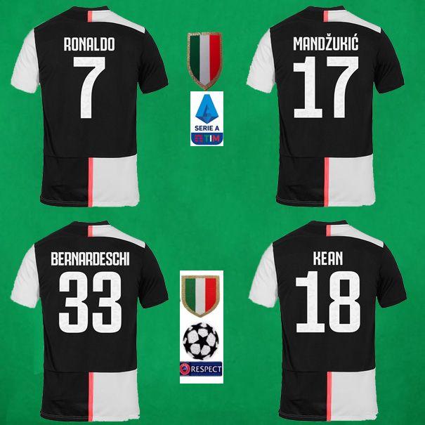 brand new 7577f aaa82 19 20 Juventus Soccer Jersey 2019 2020 RONALDO DYBALA Football Shirt KEAN  MANDZUKIC Football Jerseys BERNARDESCHI Maillot De Foot