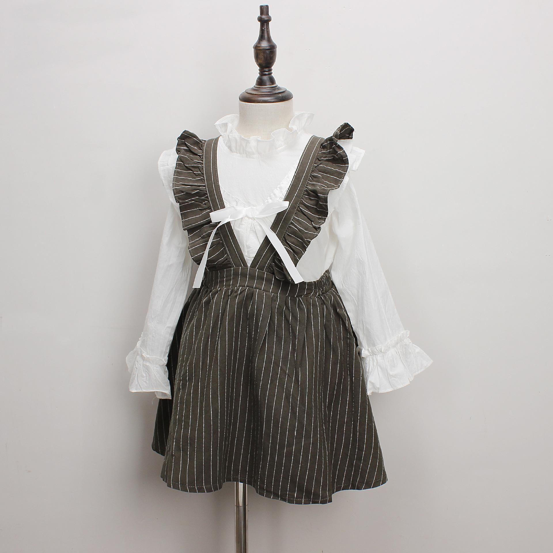410395946a 2019 New Baby Girls Stripe Suspender Dress 2019 Spring Autumn ...