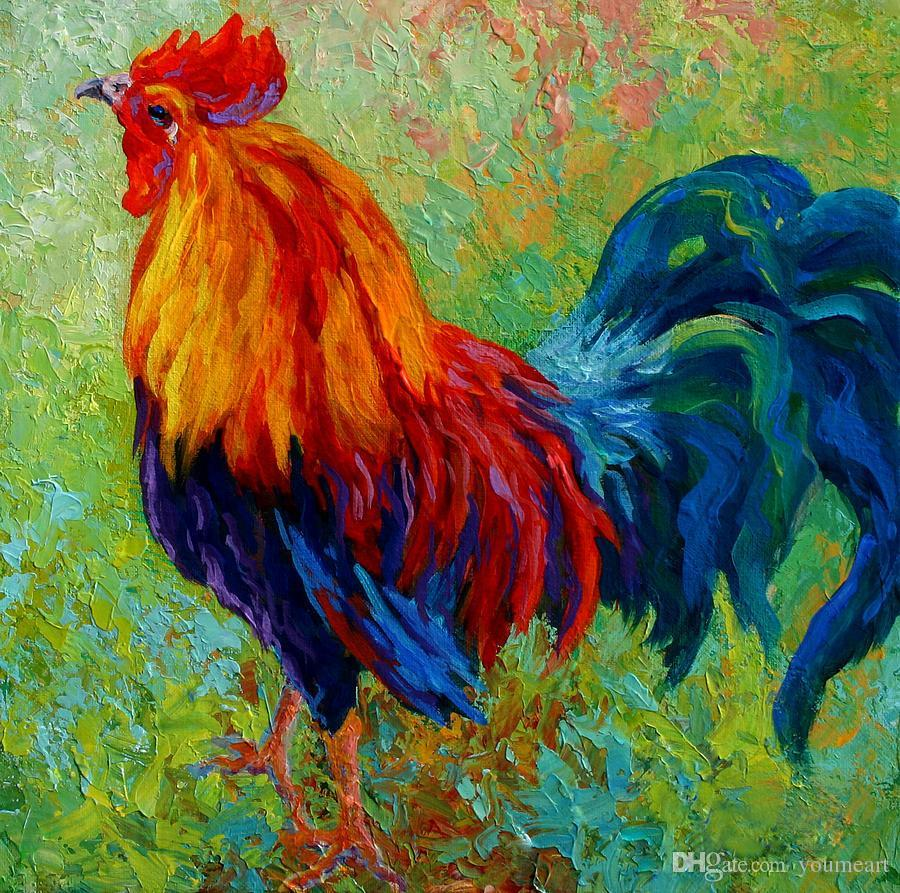 band-of-gold-rooster canvas print Unframed Modern Canvas Wall Art for Home and Office Decoration, Animal painatings ,Frame painting MRR133