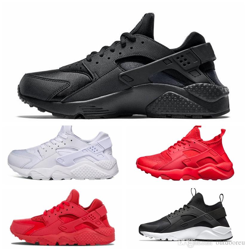 c162c119664 2019 Huarache 1.0 4.0 Run Ultra SE IV Men Running Shoes Trainer Triple  Black Red Pink Lightweight Athletic Sport Outdoor Sneakers 36 45 From  Outdooreu