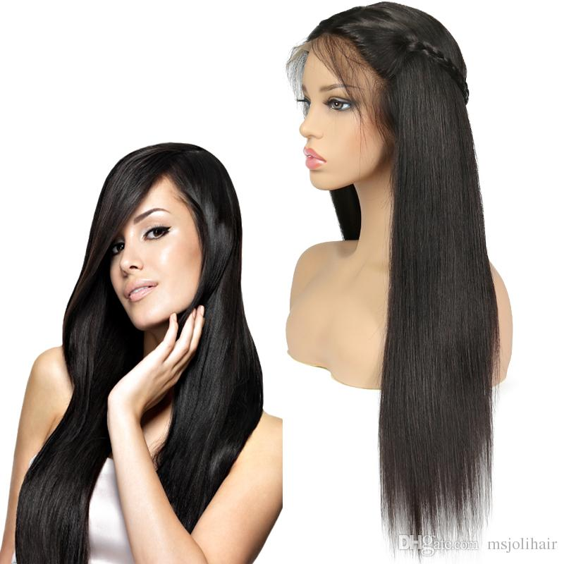 Factory Straight Brazilian Remy Human Hair Lace Front Wigs 8 24 Inch  Plucked Straight Human Virgin Hair Wigs For Black Women Wholesale Price Top  Lace ... a3555c9217