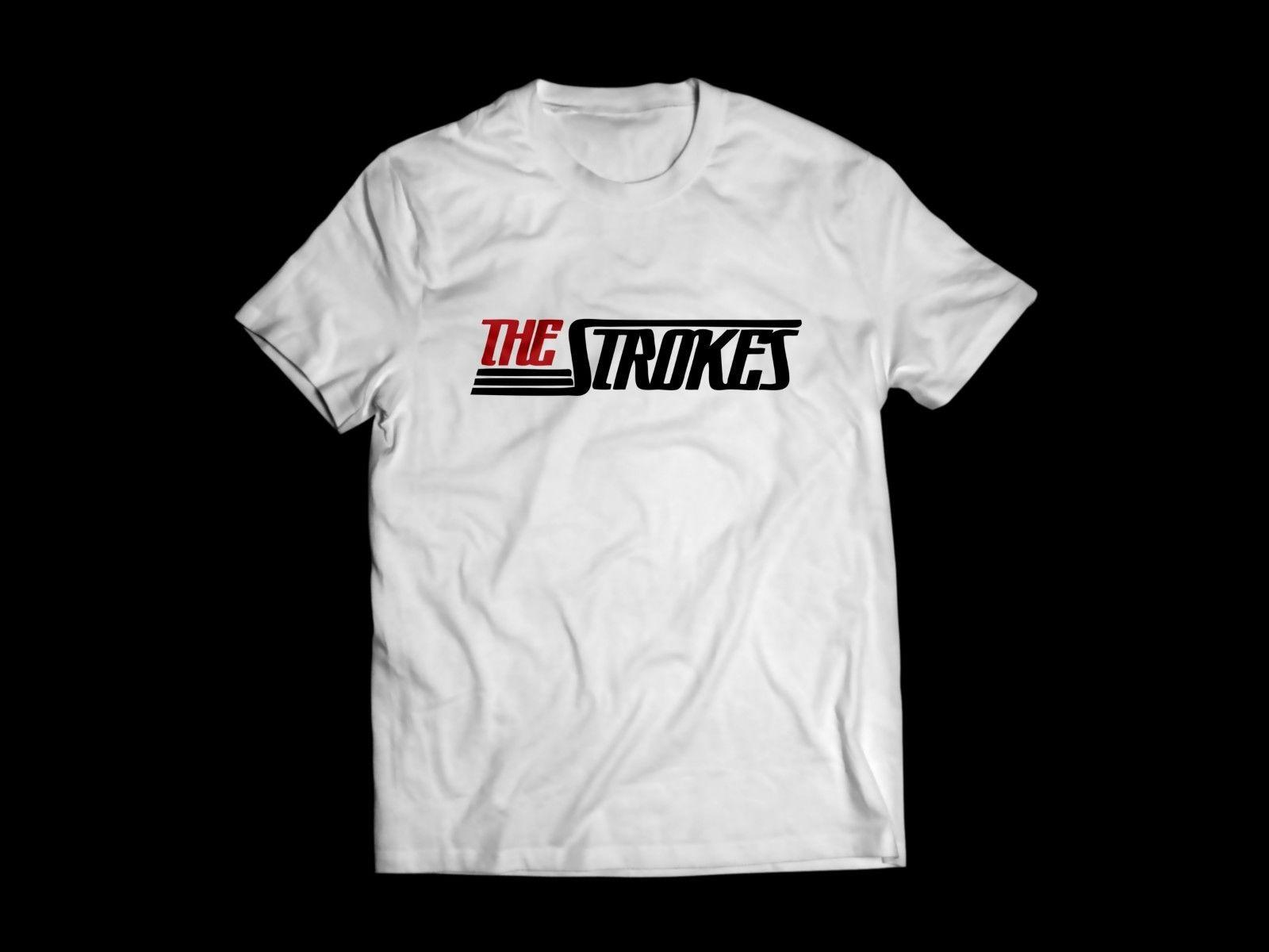 fbf8028e The Strokes Logo Band White T Shirt Music Tee Cool Casual Pride T Shirt Men  Unisex New Fashion Tshirt One Tee A Day Random Graphic Tees From  Cls6688521, ...
