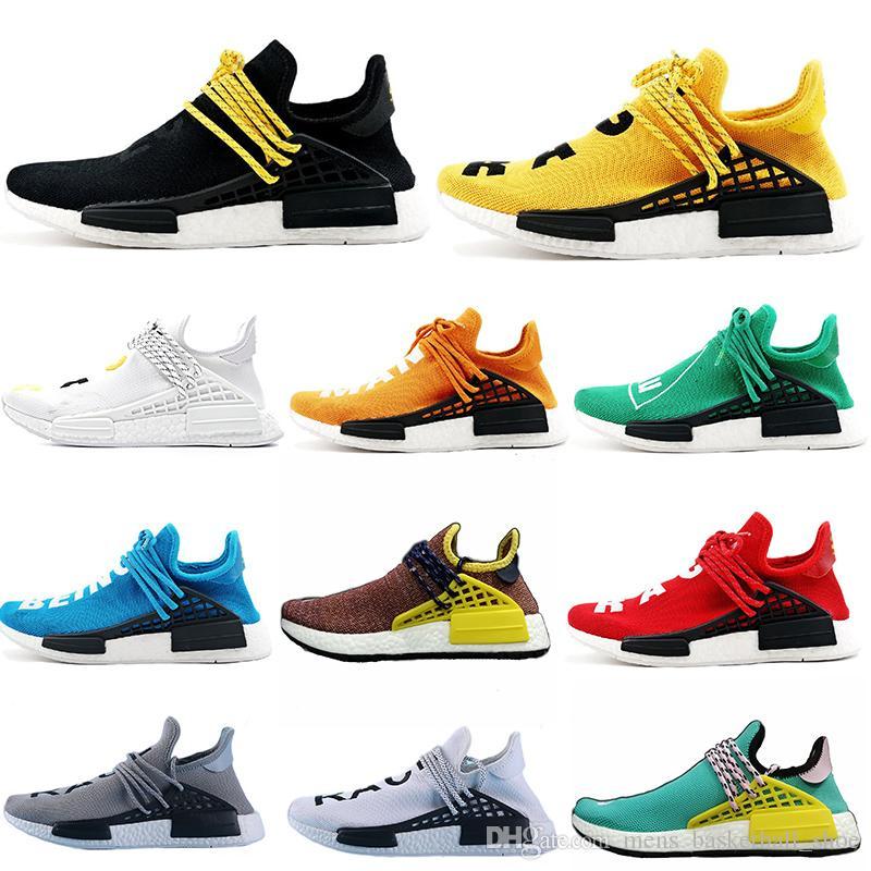 5baa7ce6c Classic Human Race Pharrell Williams Trail Men Women NEW Athletic Sneaker  Running Shoes Yellow Black Nerd White Red Mens Sport Shoe Latest Shoes Top  Running ...