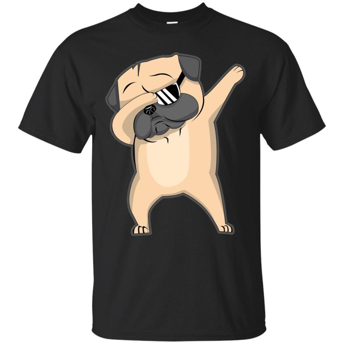 ca96d03c Pug Shirt Cute Funny Dog Dab T Shirt, Funny Black T Shirt For Men, Women Cool  Tee Shirt T Shirt Online Buy From Goodencounter60, $11.63| DHgate.Com