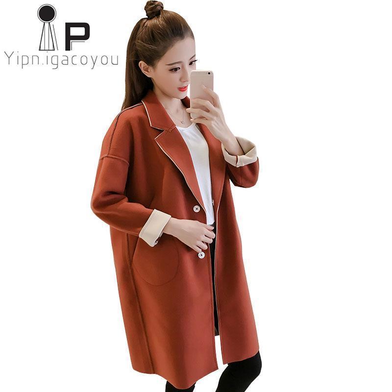 2c4fe9a81cf Winter Blend S Wool Coat Women Fashion Long Jacket Plus Size Loose ...