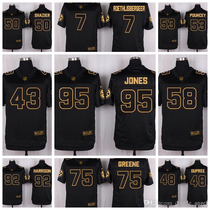 b3c6284f8a4 2019 2016 Pittsburgh 50th Steelers Anniversary Football Jersey 43 Troy  Polamalu 48 Bud Dupree 50 Ryan Shazier Jersey From Soso01