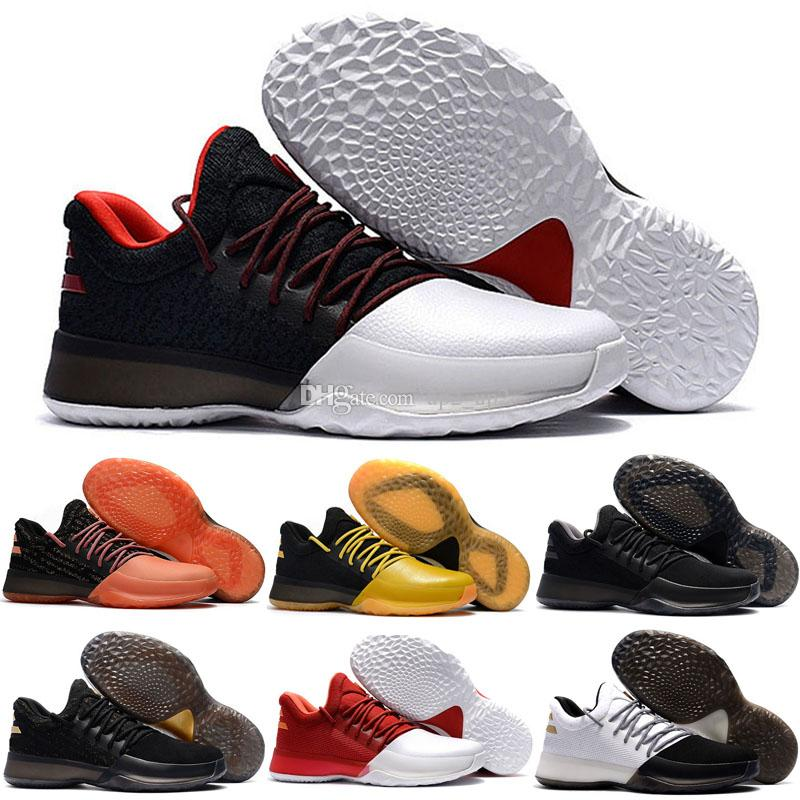 48ab55f5816e 2019 2019 New Harden Vol 1 Mens Low Outdoor Shoes Black White Orange  Fashion James Harden Sports Mens Trainers Sneakers Size 40 46 From Up2 up2