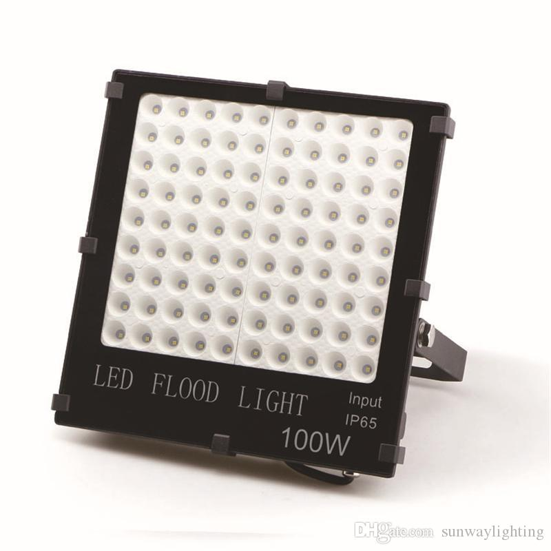 Led Floodlight 100w Waterproof Ip66 Warm White Cold White Rgb Led Outdoor Lighting Led Spotlight Lamp Dhl Free Shipping Outdoor Lighting