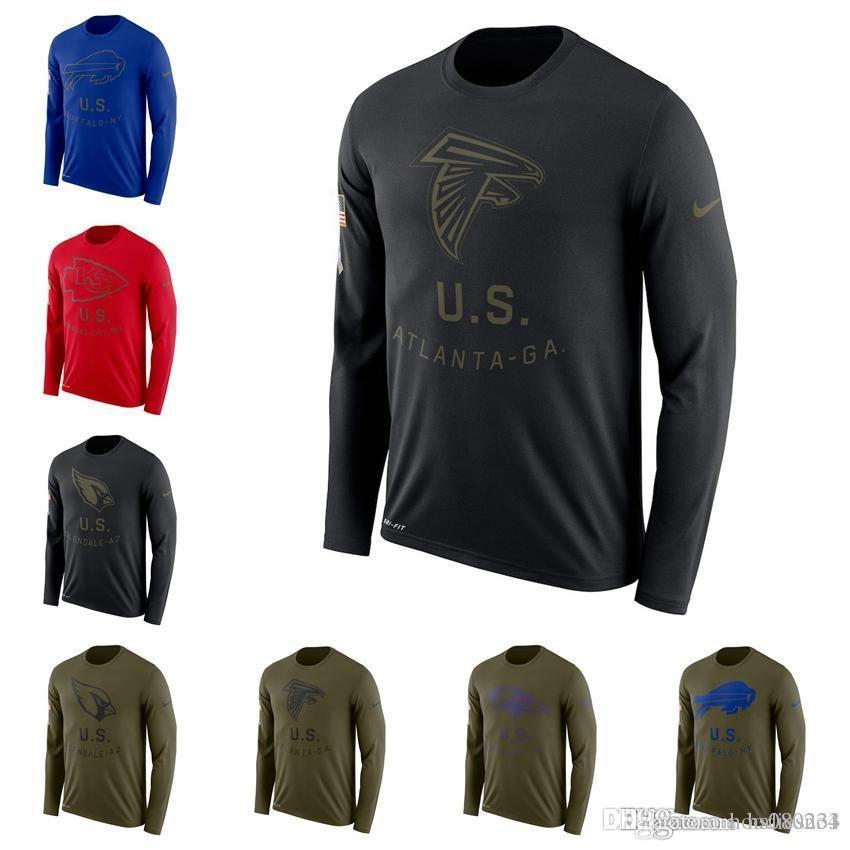 best sneakers a068a 5d470 San Francisco 49ers Cardinals Atlanta Falcons Baltimore Ravens Buffalo  Bills Salute Service Sideline Legend Performance Long Sleeve T-Shirt