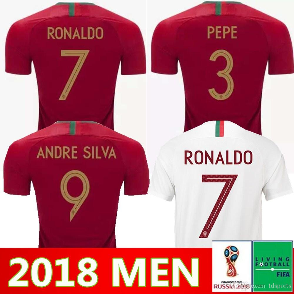 best service 86036 a220e Men Soccer Jersey 2018 World Cup 17 GUEDES 5 GUERREIRO 10 MARIO 11 BERNARDO  SILVA Football Shirt Kits National Team 20 QUARESMA