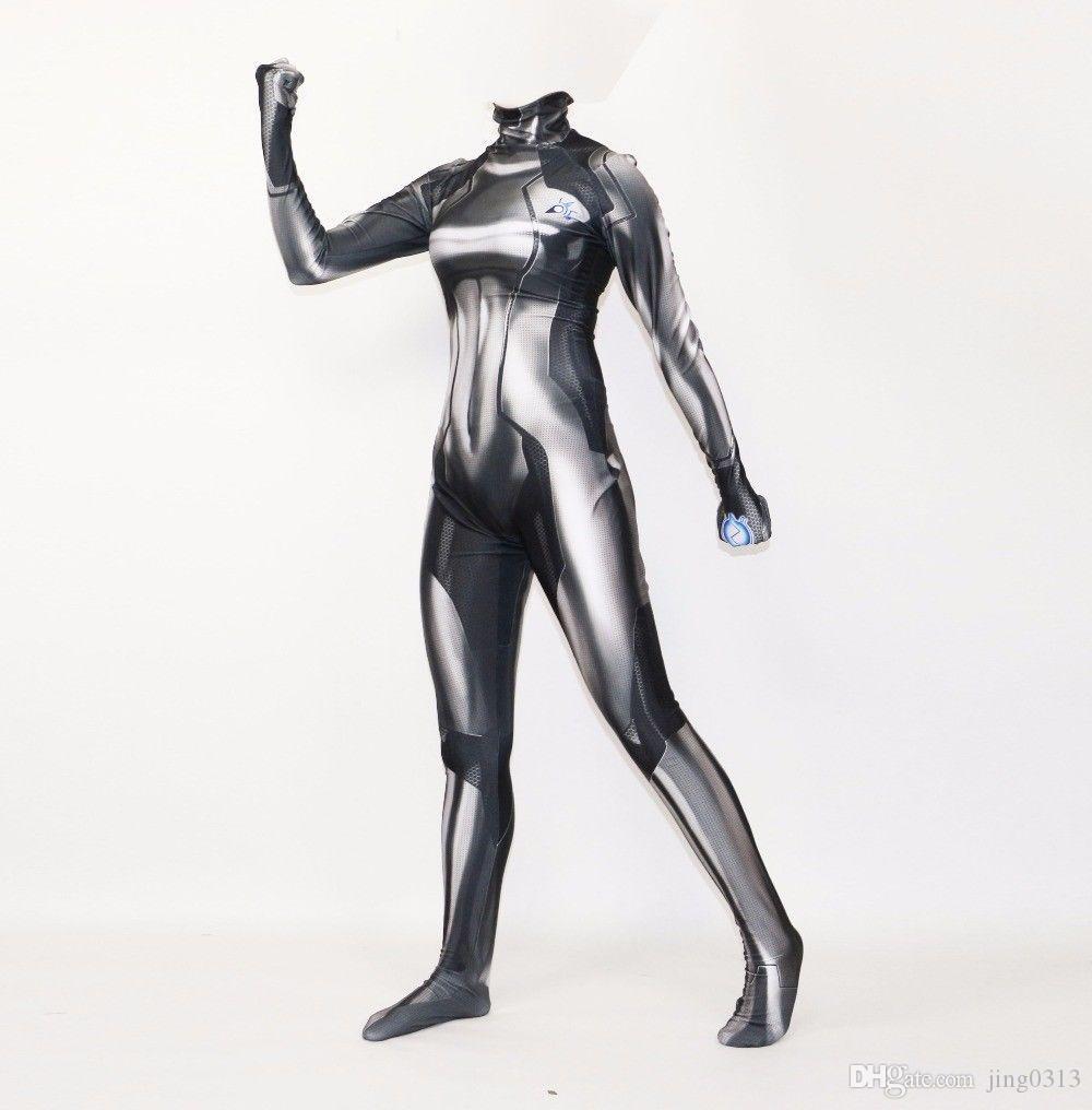 Vampire Skin suit Lycra//Spandex Zentai Cloak Halloween Women/'s Cosplay Costume