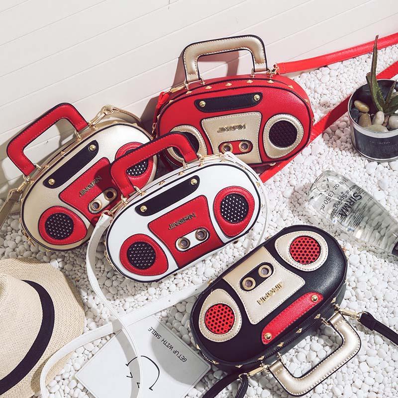 546102848832 Vintage Fashion The Radio Childrens Bags Wholesale PU Leather Bag ...