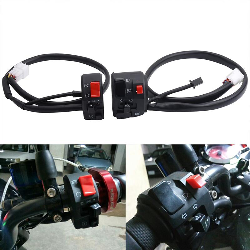 Universal 22mm Motorcycle Handlebar Switches Handlebar Mount Headlight Turn Signal Fog Lights Fog Light Switch