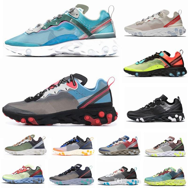 2f23d93fe6939 React Element 87 UNDERCOVER X Upcoming Running Shoes For Men Women White  Black NEPTUNE GREEN Blue Mens Trainer Designer Sports Shoes Trail Shoes  Shoes ...