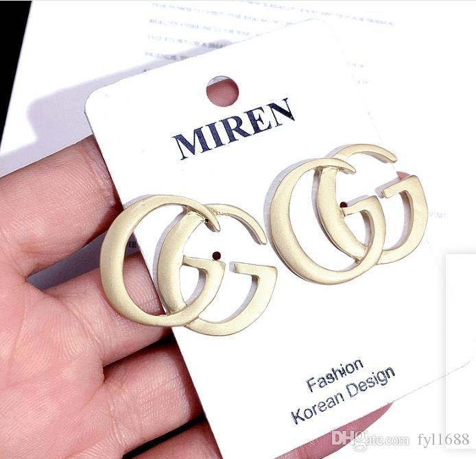 2019 New Fashion Designer Earrings Letters G G Earrings Gold Plated Ear Studs Earddrop For Women Girl Party Wedding Jewelry