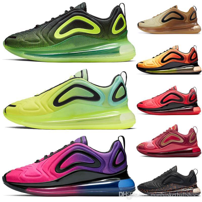 Nike air max 720 Mujeres Sea Verdadero Zapatillas Triple Blanco negro Amanecer Sunrise Obsidiana Mujeres Diseñador Zapatillas de deporte para hombre