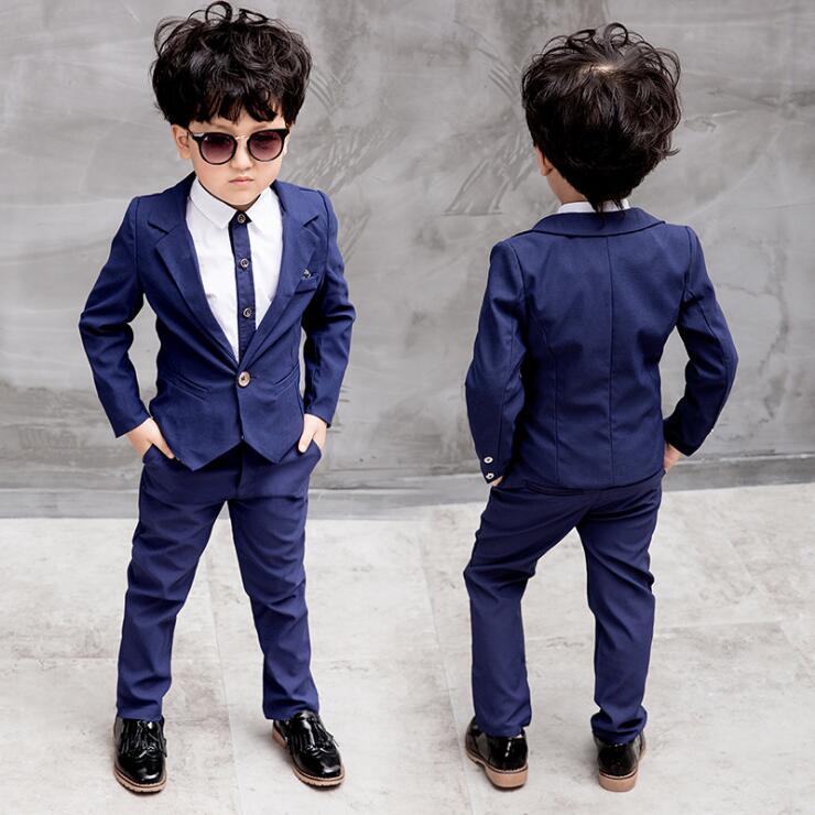 92b8d7e9873e5 Satın Al WNLEIGEL 3 Adet Erkek Moda Giyim Seti Çocuk Takım Elbise Gömlek Ve  Pantolon Set Bebek Kırmızı Mavi Elbise Çocuk, $86.68 | DHgate.Com'da