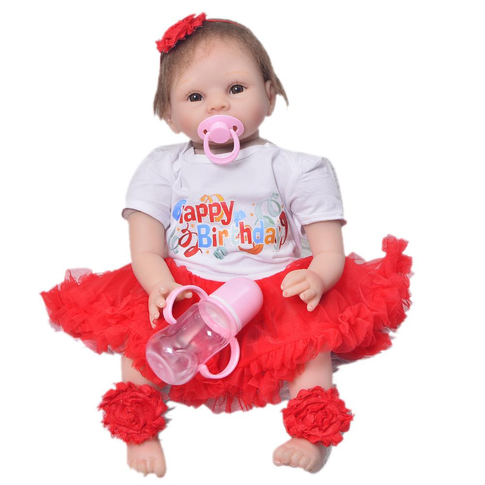 Dolls & Stuffed Toys Sunny Full Silicone Vinyl 22 Inch Reborn Boy Doll Handmade Newborn Baby Collectible Babies Boy Dolls Kids Birthday Xmas Gift Suitable For Men And Women Of All Ages In All Seasons