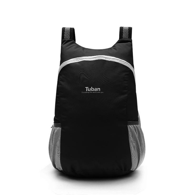 f0b8d28fa2 Durable Folding Packable Lightweight Travel Hiking Waterproof Backpack  Comfortable Mat Foldable Design Camping Daypack Drawstring Backpack Black  Backpack ...