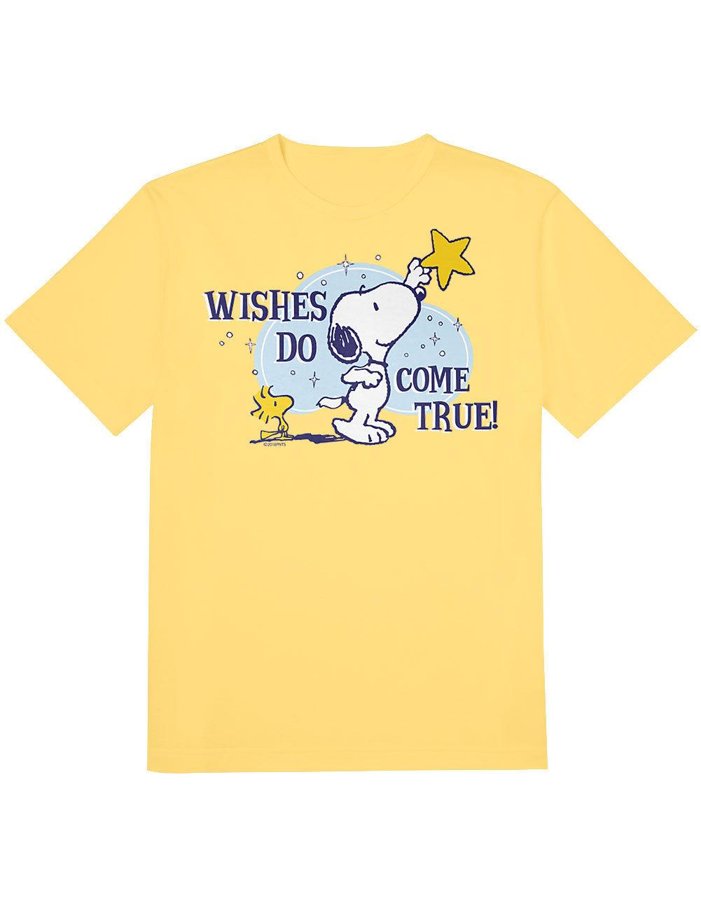 dee0bbebc855c9 NEW NWT Peanuts Snoopy And Woodstock Wishes Do Come True T Shirt X LargeMen  Women Unisex Fashion Tshirt Funny T Shirt Shop Design Crazy T Shirts Online  From ...