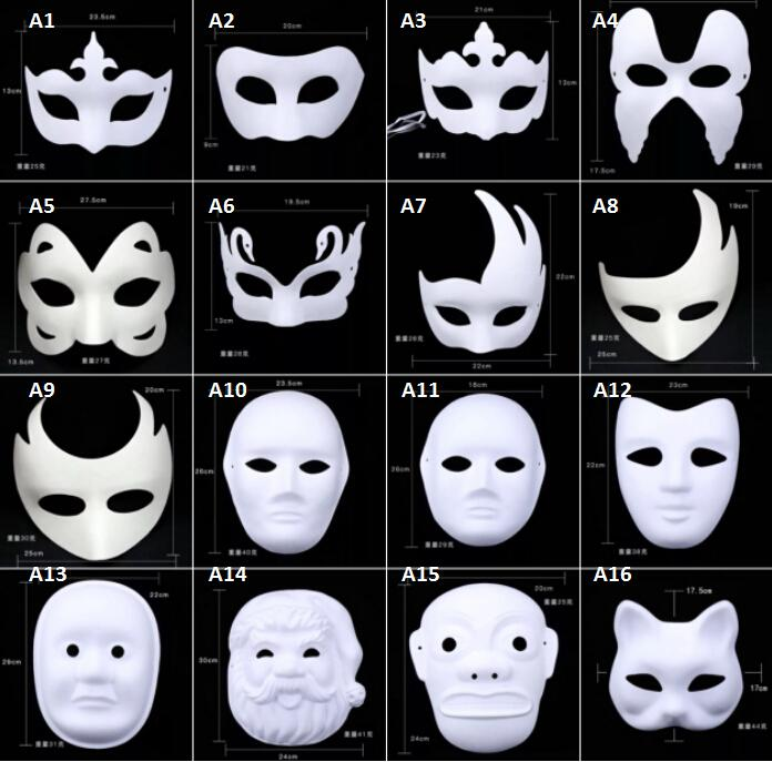 Satın Al Renkli çizim Parti Maskeleri Yüz Boyama Anonim Maske