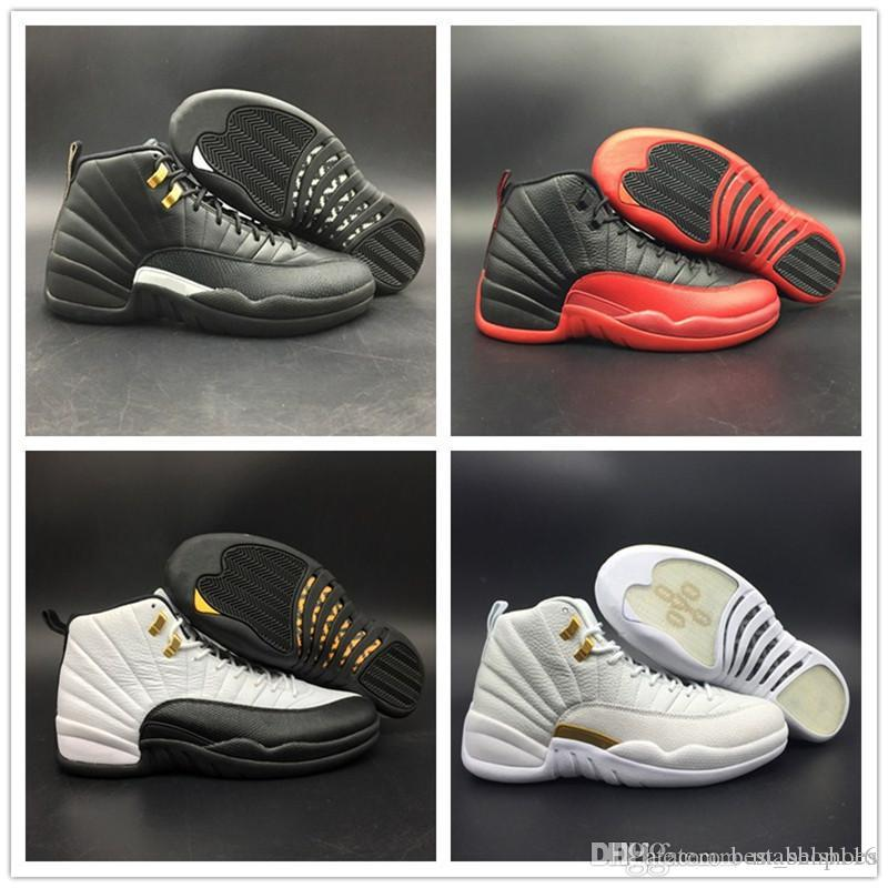 TOP Basketball Shoes 12s Real Carbon Fiber The Master Flu Game Taxi OVO Black White Red Mens Athletic Sports Sneakers