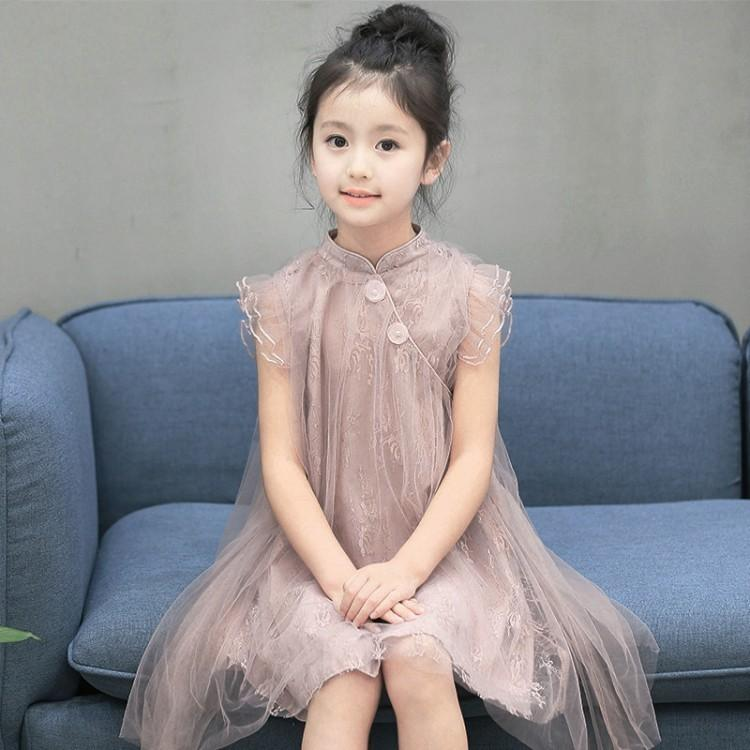 14ca71fc2a25 2019 Princess Lace Dress Baby Girl 2019 Fashion Summer A Line Party Dresses  For Girl Costume Cotton Chinese Style Kid Clothes 6ds411 From Nextbest04