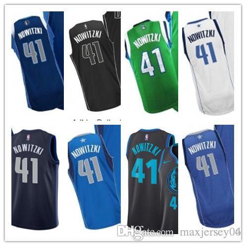 promo code e3100 1f7cf 2019 custom Dallas Men/WOMEN/youth Maverick jersey 41 Dirk Nowitzki jerseys  free ship size s-xxl message name number