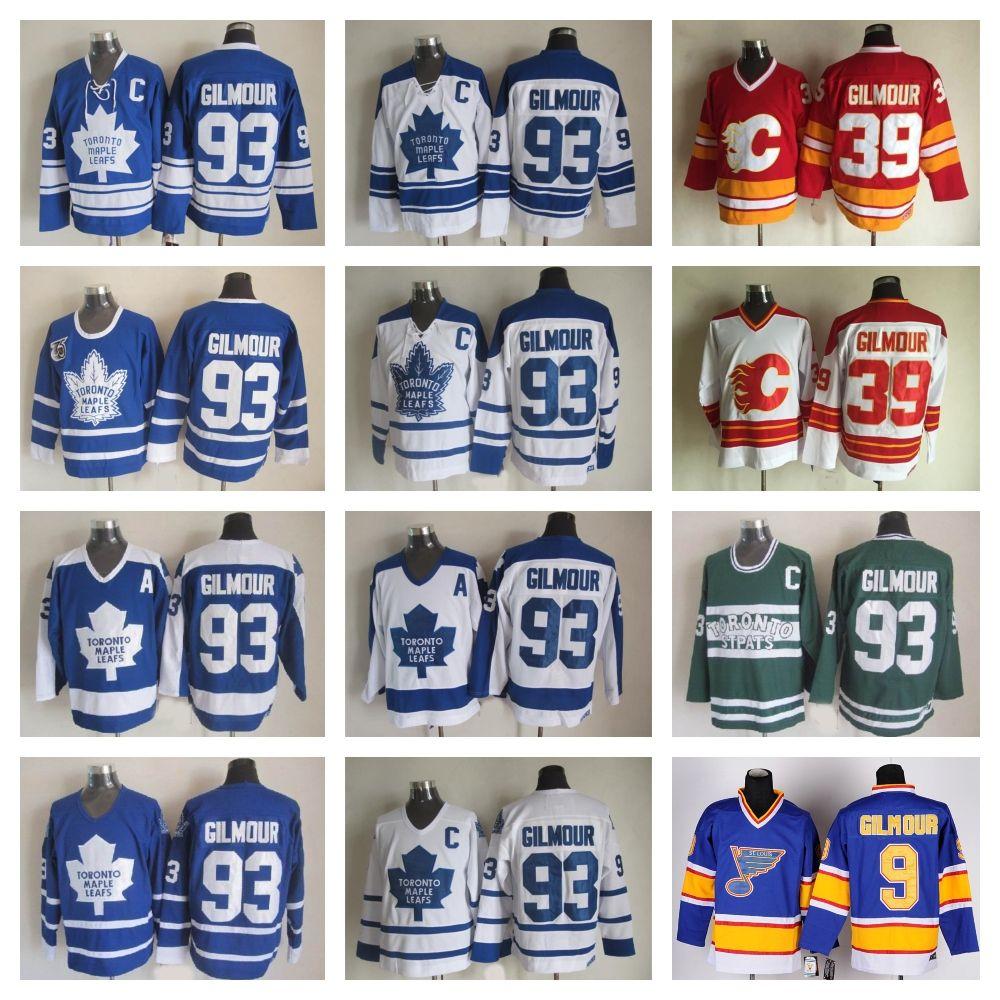 wholesale dealer 5ed5b dd985 Best Quality Men Toronto Maple Leafs #93 Doug Gilmour Jersey 39 Calgary  Flames 9 St. Louis Blues CCM Vintage Doug Gilmour Hockey Jersey