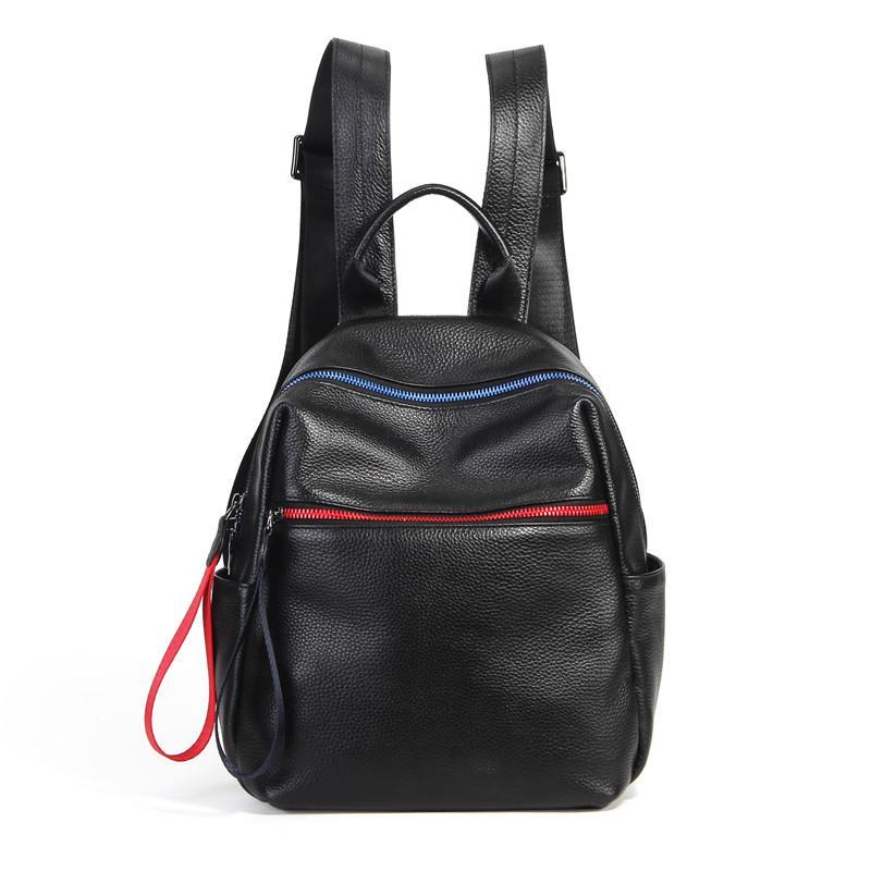 52031c566675 Nesitu High Quality New Fashion Black Genuine Leather Cute Small Women  Backpacks For Female Girl Lady Travel Bag M1018 Back Packs Rolling Backpacks  From ...