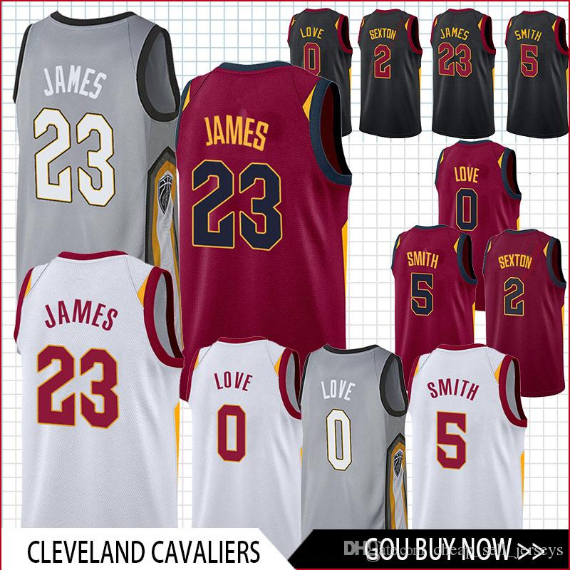 a021afdf966e 2019 Men 23 James Cleveland 0 Love 5 Smith Basketball Cavaliers Jersey Men  Fans Clothes Printed Top Quality From Cheap sell jerseys