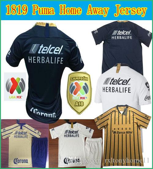 san francisco c8495 79be9 2018 LIGA MX Club America Puma soccer sleeve Jerseys home away 3rd Orange  18 19 mexico football shirts