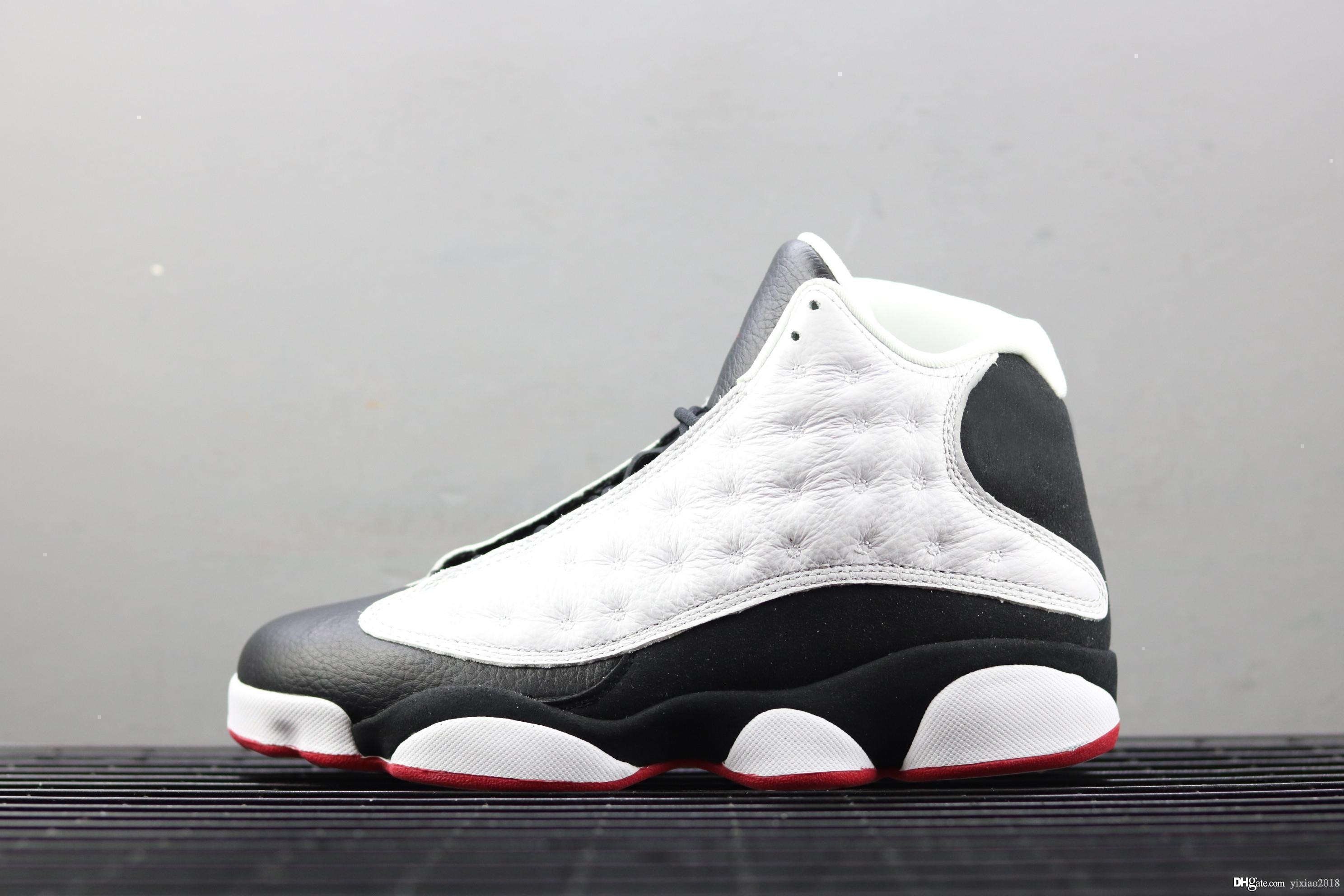 new product f1739 9e6a6 He got game 13 Real Carbon Fiber Black 13s White Retro Men Basketball Shoes  Women Trainers 2019 Casual Shoes Sneakers With Box