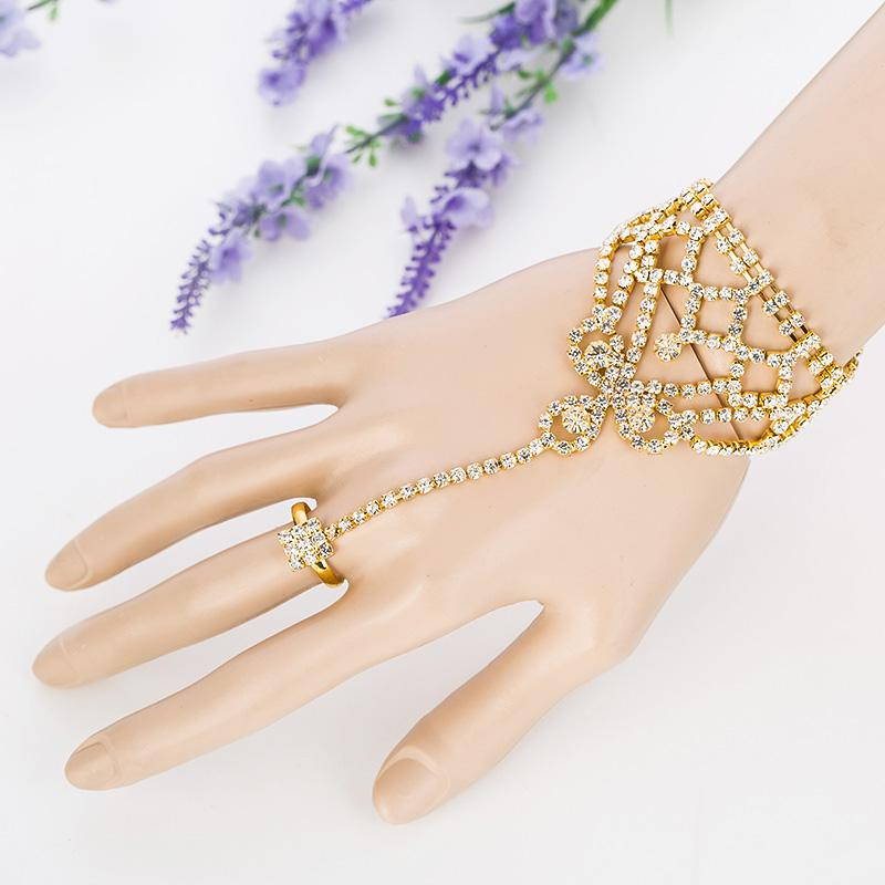 Fashion Sets Wedding Jewelry 2017 Sale Fashion Jewelry New Arrival Wholesale/retail Lady Chain Rings Bracelet Bangles Bridal Accessories