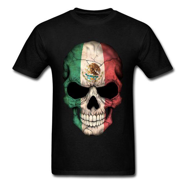 Compre Marca De Ropa De Diseñador Para Hombre Polo Camiseta De Calaveras  Tamaño Grande Bandera De México Skull Tops Camiseta Para Hombre Guapo Sugar  Skull ... 90c90ff73107a