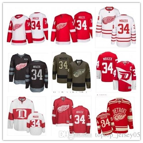 best service f8206 739e9 can Detroit Red Wings Jerseys #34 Petr Mrazek Jerseys men#WOMEN#YOUTH#Men's  Baseball Jersey Majestic Stitched Professional sportswear
