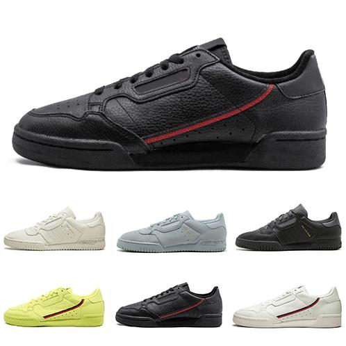 Calabasas Powerphase White Continental 80 Chaussures de loisirs Kanye West Pure Core noir OG blanc Hommes Femmes Trainer Sports Sneakers