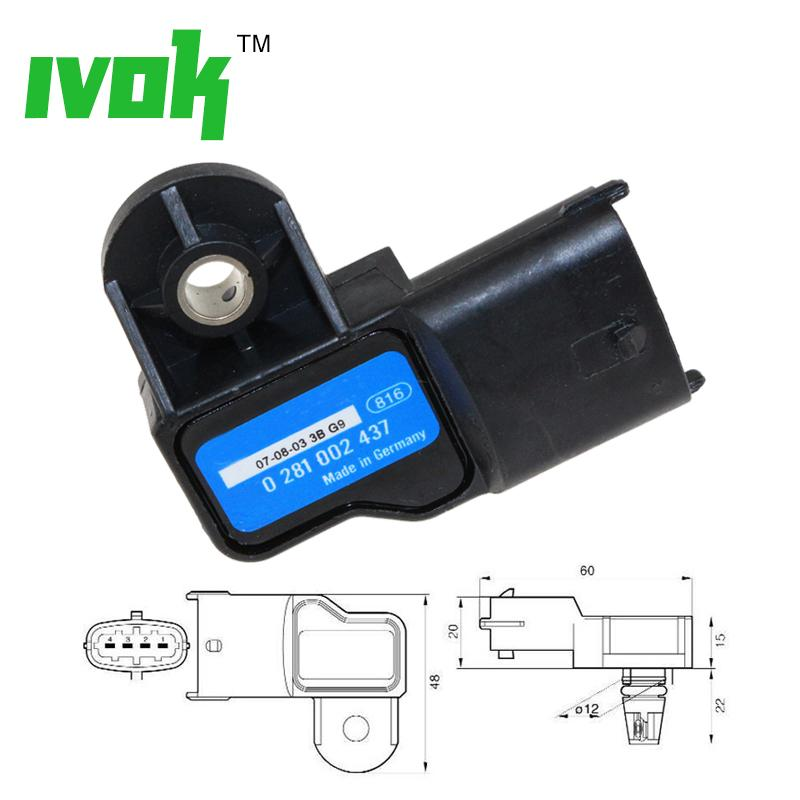 New 3 Bar MAP Sensor For Opel Vauxhall Astra G H Signum Vectra C Zafira 1.3 1.9 Cdti 73503657 0281002845 0281002437