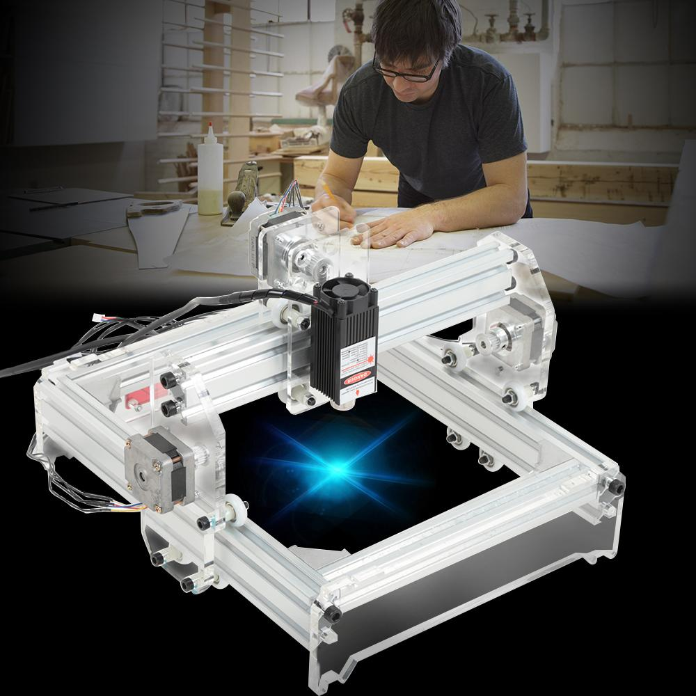 NOVO 2000/3000/5500 mW Máquina de gravação a laser Kit DIY Carving Instrument Engraver Desktop Router / Cutter / Printer