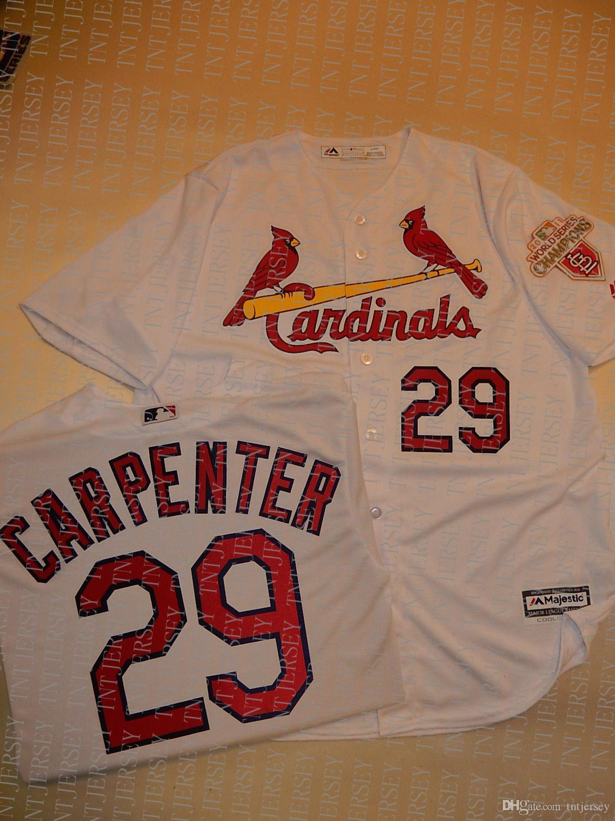 100% embroidery custom CHRIS CARPENTER 2011 WORLD Jersey Stitch customize any number name MEN Jerseys XS-5XL NCAA JERSEY