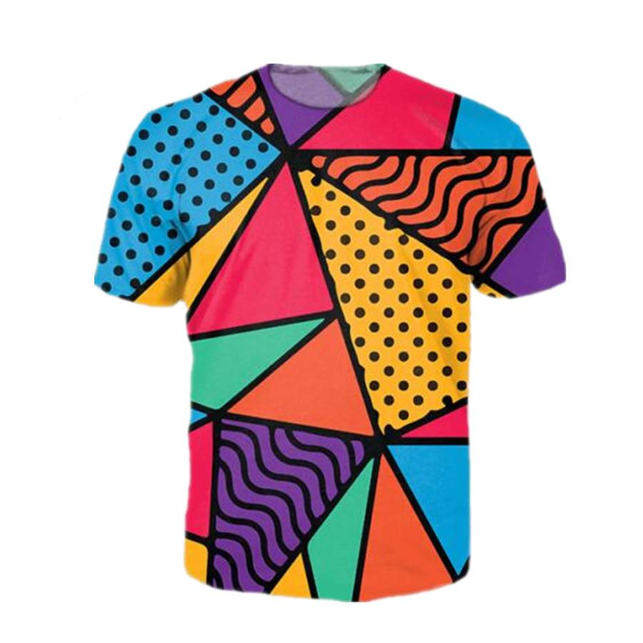90s Feel Funny Colorful Harajuku Style Newest Fashion Menwomen Tops