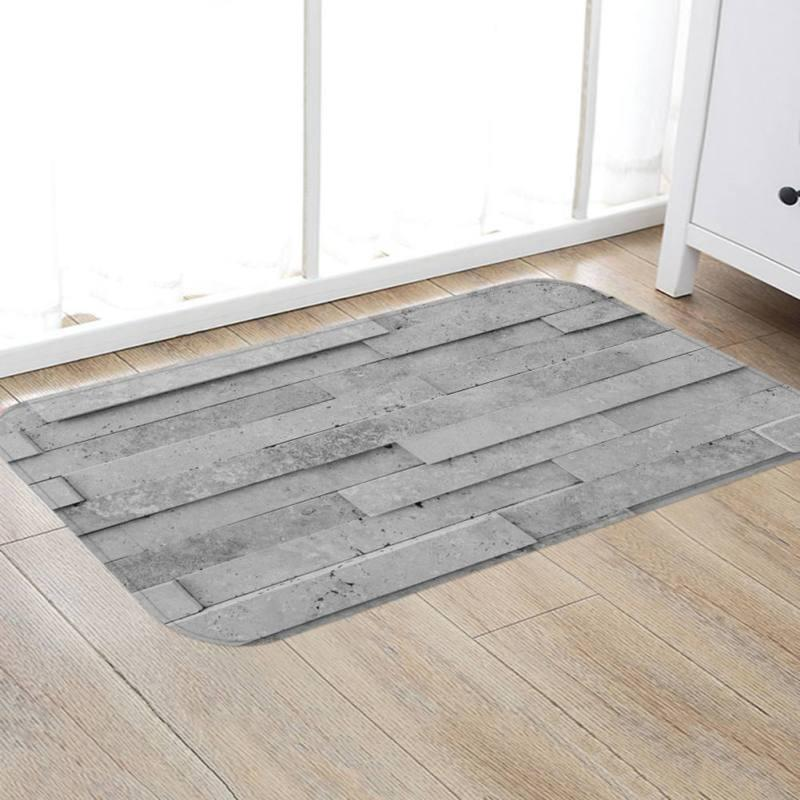 Thickening Gray Rug 3D Marble Pattern Carpet for Home Hotel Soft Non Slip Floor Mat Living Room Bedroom Decorative Carpet Rug