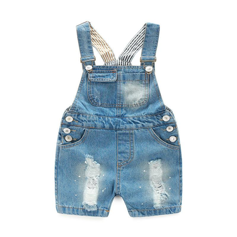 6ad5fd55a Boys Summer Denim Jumper Shorts Children Fashion Overalls for Girls Kids  Summer Short Denim Jumper Pants Baby Girls Clothes Online with $39.59/Piece  on ...