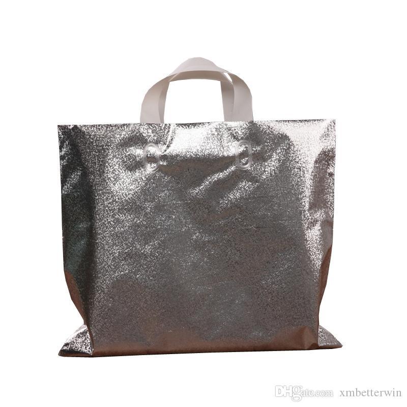 100pcs lot plusieurs tailles sacs fourre tout en plastique épaissie gros gros shopping cadeau sacs main porter vêtements magasin sacs