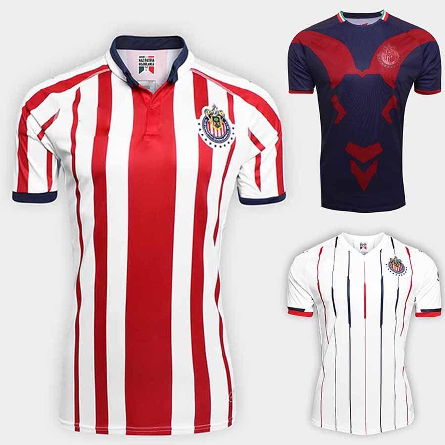 c49a38ec36c 2019 2019 De Guadalajara Home Jersey E.Lopez A.Pulido I.Brizuela 18 19 Chivas  Retro 110 Football Shirt Rojo Y Blanco From Bet best
