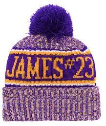 Compre 2019 Lakers Beanie LAL James 23 Gorro De Invierno Sombreros ... 7559454a994