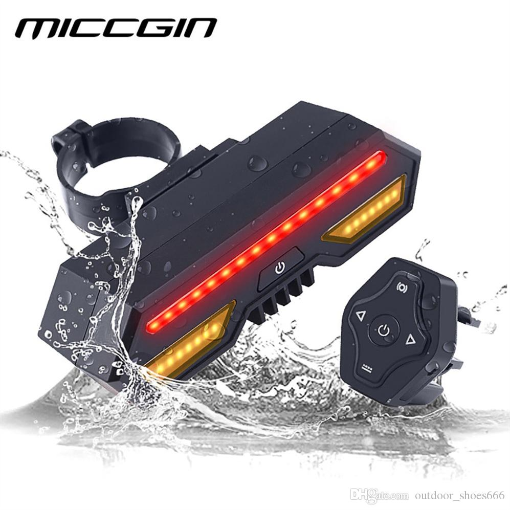 MICCGIN Bicycle Wireless Remote Control Turn Tail Light Bike Rear Light USB Rechargeable Waterproof LED Cycling accessory #221225